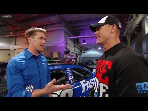 Edwards delivers a message to Cena