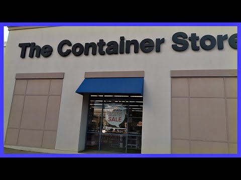 SHOPPING AT THE CONTAINER STORE