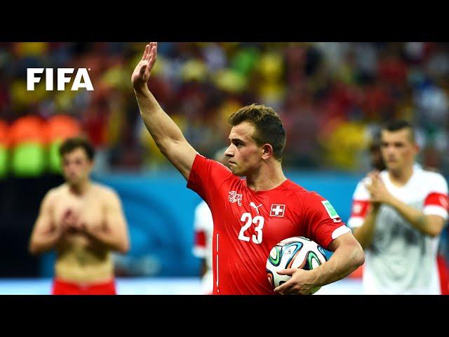 Xherdan Shaqiri opening goal vs Honduras | ALL THE ANGLES | 2014 FIFA World Cup