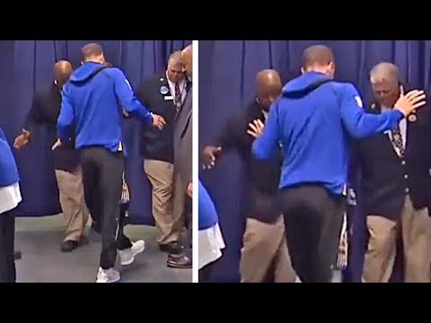 Stephen Curry Dancing With Security Guards Before Big Game