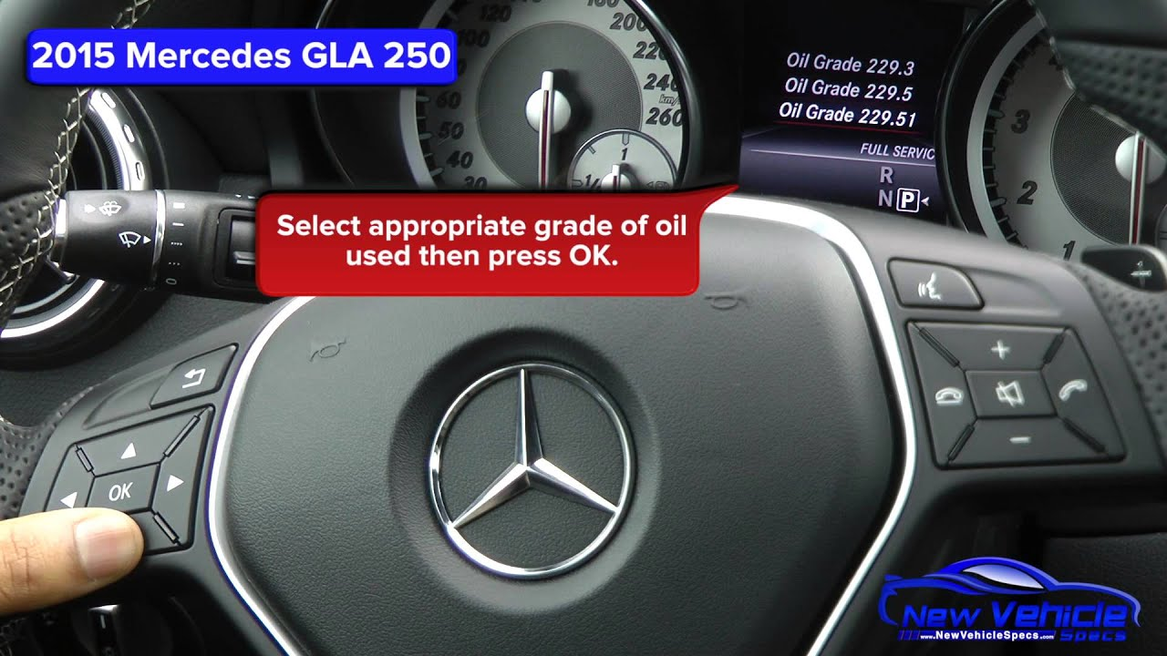 2015 mercedes gla 250 oil light reset service light for Mercedes benz oil change service
