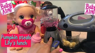 BABY ALIVE Pumpkins And Lily's Afternoon Routine Baby Alive Videos
