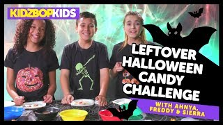 Leftover Halloween Candy Challenge with Ahnya, Freddy & Sierra