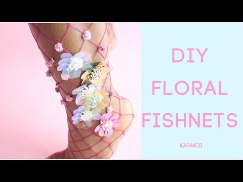 DIY Floral Fishnets | How To Lirikamatoshi Inspired Fishnets