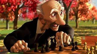 мультфильм Disney Игра Джери | Короткометражки Студии PIXAR [том1] |про шахматы|Старичок с шахматами