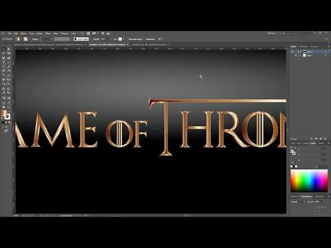 How To Create Games Of Thrones Text Effect In Adobe Illustrator