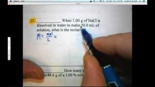 Solution Concentration Problems