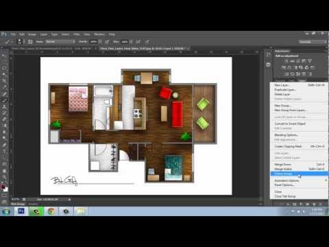 How to render a Floor Plan created in AutoCAD | Photoshop