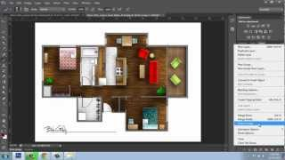 Adobe Photoshop Cs6 - Rendering A Floor Plan - Part 6 - Finishing Touches - Brooke Godfrey