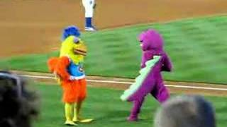 Famous Chicken dances with Barney