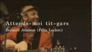 Download Attends moi tit gars -Bernard Adamus MP3 song and Music Video