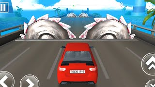 DEADLY RACE #18 Speed Red Car Bumps Challenge 3d Gameplay Android IOS