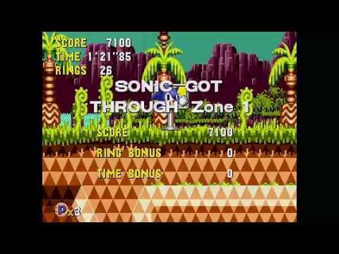 Sonic CD (J) - PalmTree Panic 1 All time zones