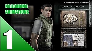 Resident Evil HD Remaster [Chris - no loading] walkthrough part 1
