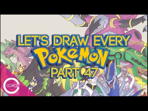 Let's Draw EVERY POKEMON Live! - PART 47 (size corrections, Fossils, MORE Pikachu)
