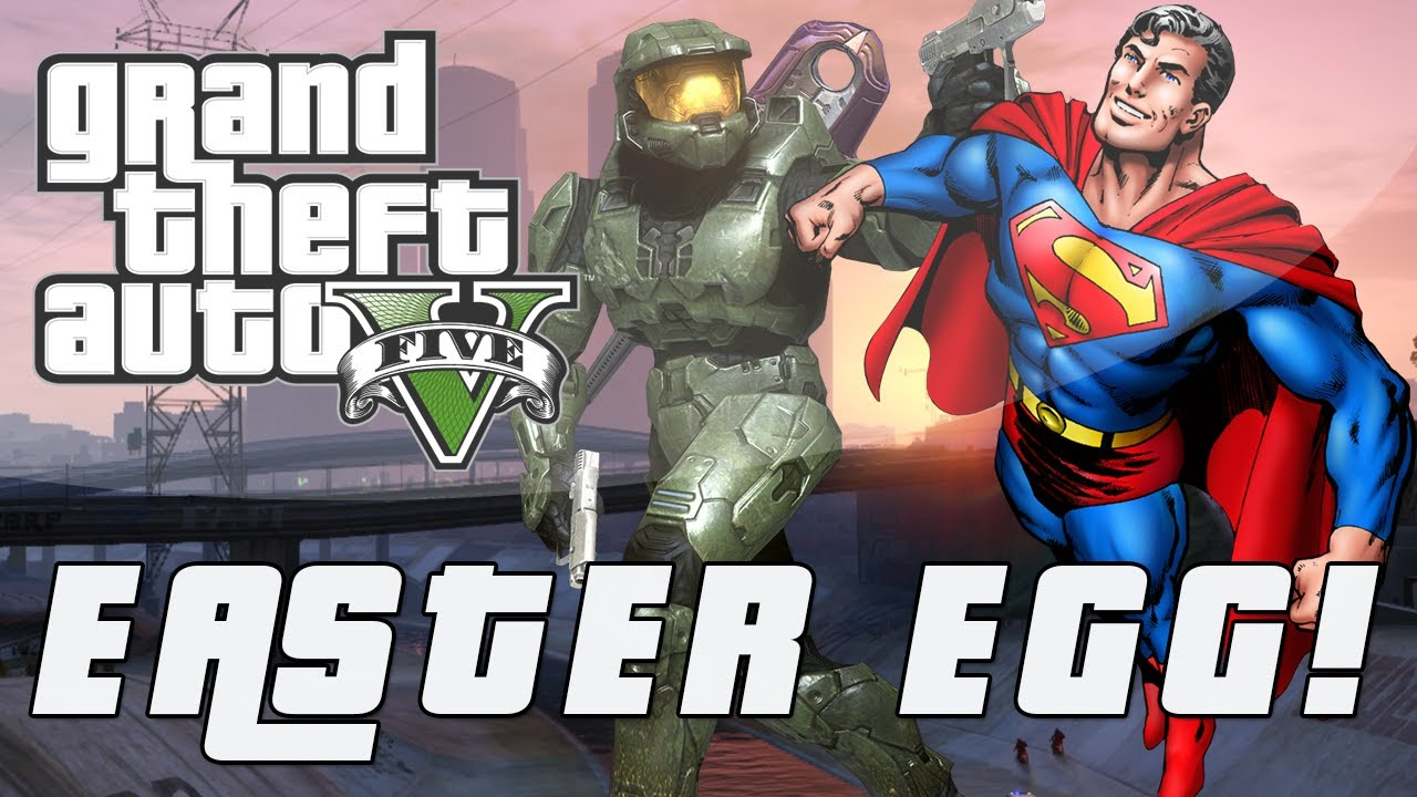 Grand Theft Auto 5 | Master Chief & Superman Easter Egg ...