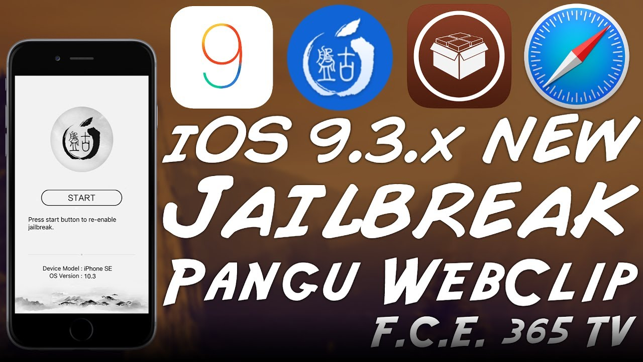 NEW iOS 9 3 x JAILBREAK NO PC (WebClip for Pangu Jailbreak) by