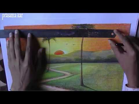 landscape drawing ideas | oil pastels |oil pastel painting | nature drawing images | online classes