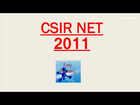 (9)Csir net 2011 question based on coordination chemistry