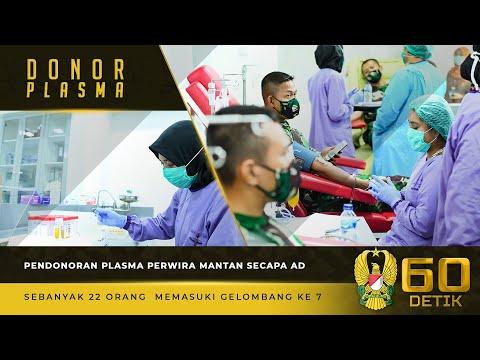 Gelombang ke-7 Pendonoran Plasma Perwira Mantan Secapa AD di RSPAD Sebanyak 22 Orang