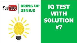 Next question | IQ test | IQ question with answer 7