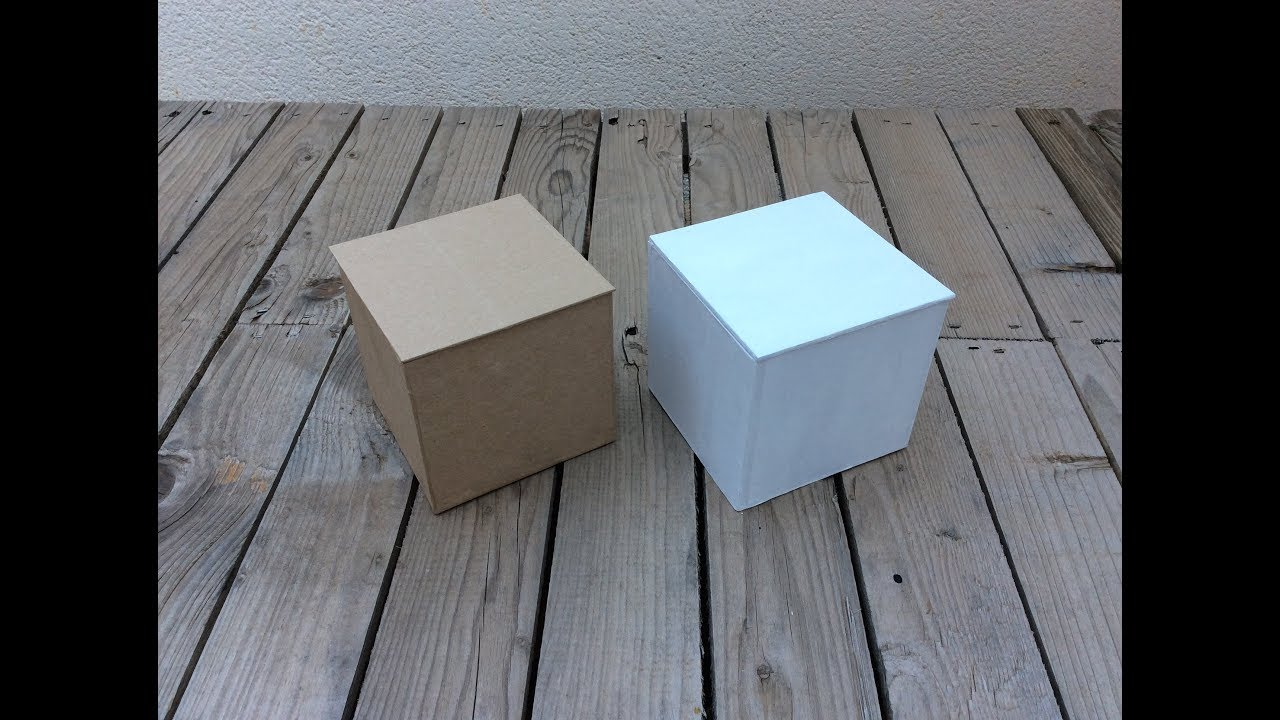 Cómo Hacer Cajas Cuadradas Con Cartón Cartonaje Youtube