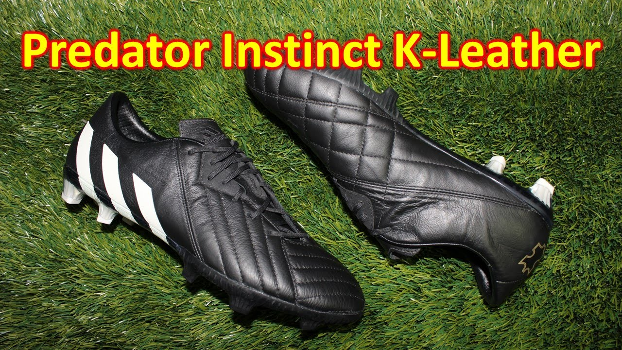 8a61fce3aa70 Adidas Predator Instinct K-Leather (Pure Leather Pack) - Review + On Feet -  YouTube
