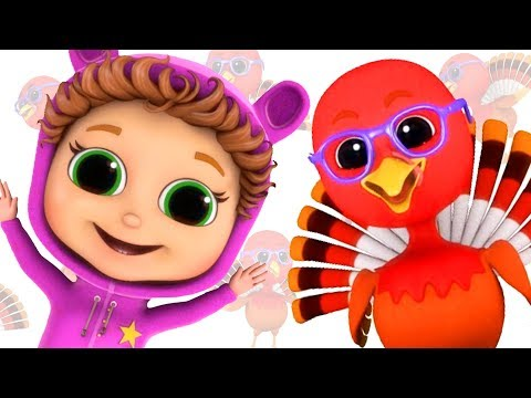 Five Little Turkeys  Educational  Counting Song  Nursery Rhymes  Singalong