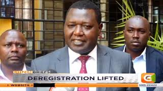 Deregistration for non-governmental organizations lifted