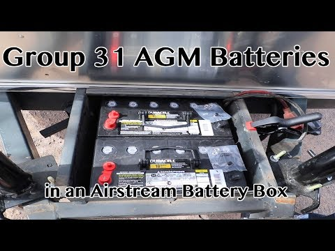 """How to - """"How I Do"""" Group 31 AGM battery install in a 2012 Airstream battery box-Full Time RV Living"""