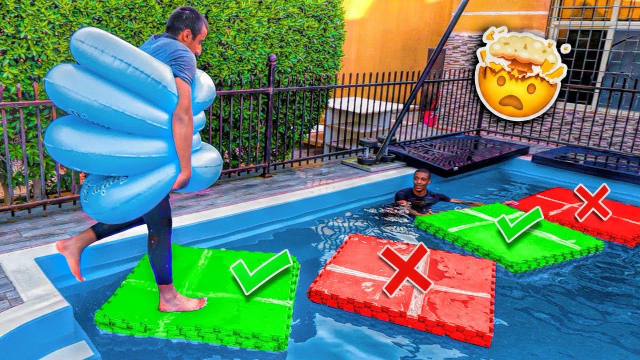لا تطيح من المربع على المسبح الغلط | اصعب تحدي !! فلوق#101