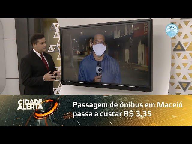 Passagem de ônibus em Maceió passa a custar R$ 3,35 a partir de segunda-feira