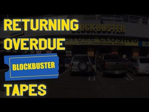 Returning Overdue Blockbuster VHS Tapes in 2013 | $93,000's in Late Fees