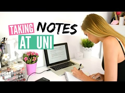 How To Take Notes At Uni + Stationery Haul (Back to School)