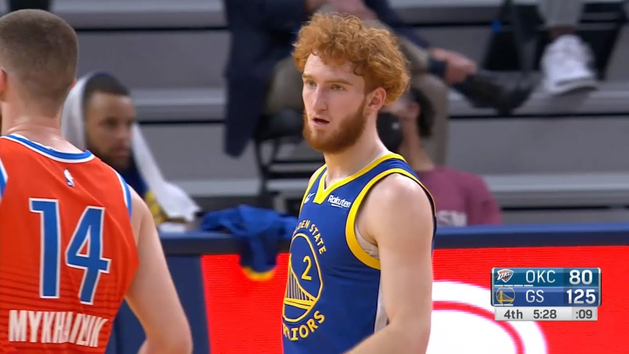 Warriors set the franchise record 25 threes in a game after Nico Mannion's three
