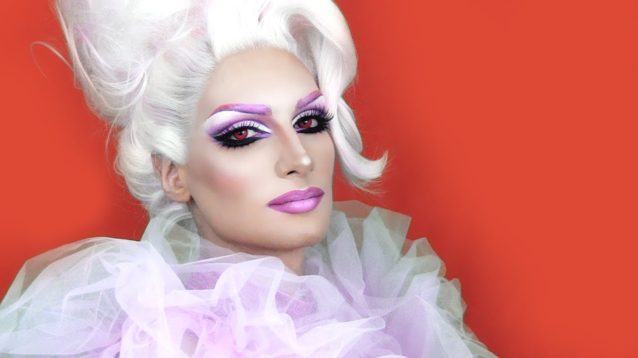 Drag Queen Make Up Pink Fusion Lotus Inspired Youtube
