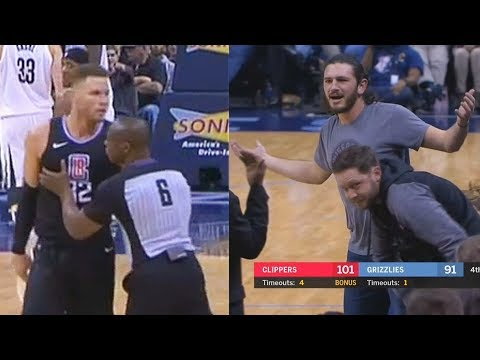 Blake Griffin Almost Fights Fan for Holding Him!