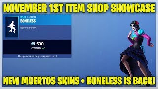 Fortnite Item Shop NEW MUERTOS SKINS! [November 1st, 2018] (Fortnite Battle Royale)