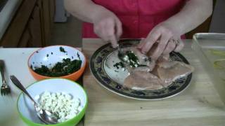 Spinach And Goat Cheese Stuffed Chicken Breast