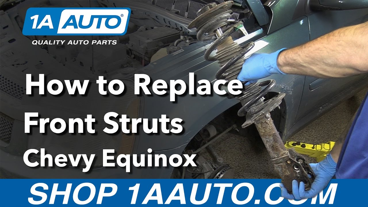hight resolution of how to replace front struts 05 09 chevy equinox