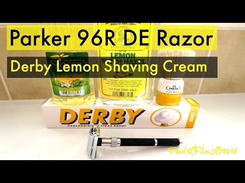 Parker 96R DE Razor - Derby Lemon Shaving Cream