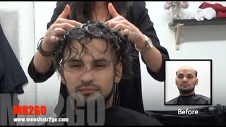 Hair Replacement FITTING VIDEO (Kane) – Hair loss, Baldness, Hair Wigs, Hair Toupees, Hair pieces