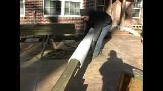 Woodworking Plans - Pergolas Erecting Posts For Pergola
