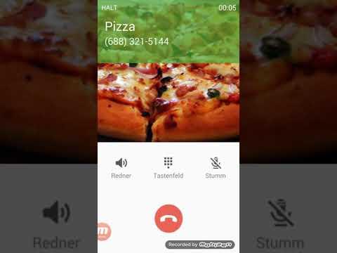 Fake Anruf Pizza