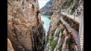 Каминито-дель-Рей: пешеходная дорожка .Королевская тропа.Малага.Андалусия.Испания.2020