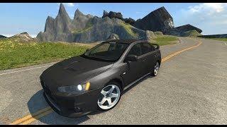 BeamNG.Drive Mod : Mitsubishi Lancer Evolution X (physics Crash test)