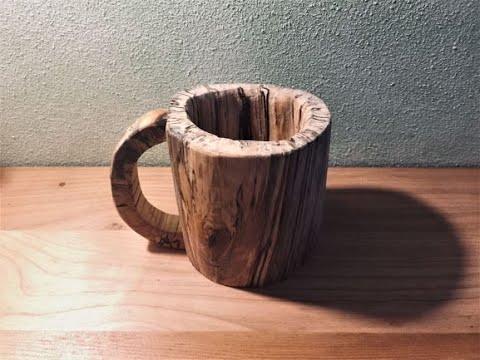 DIY- Homemade wooden mug