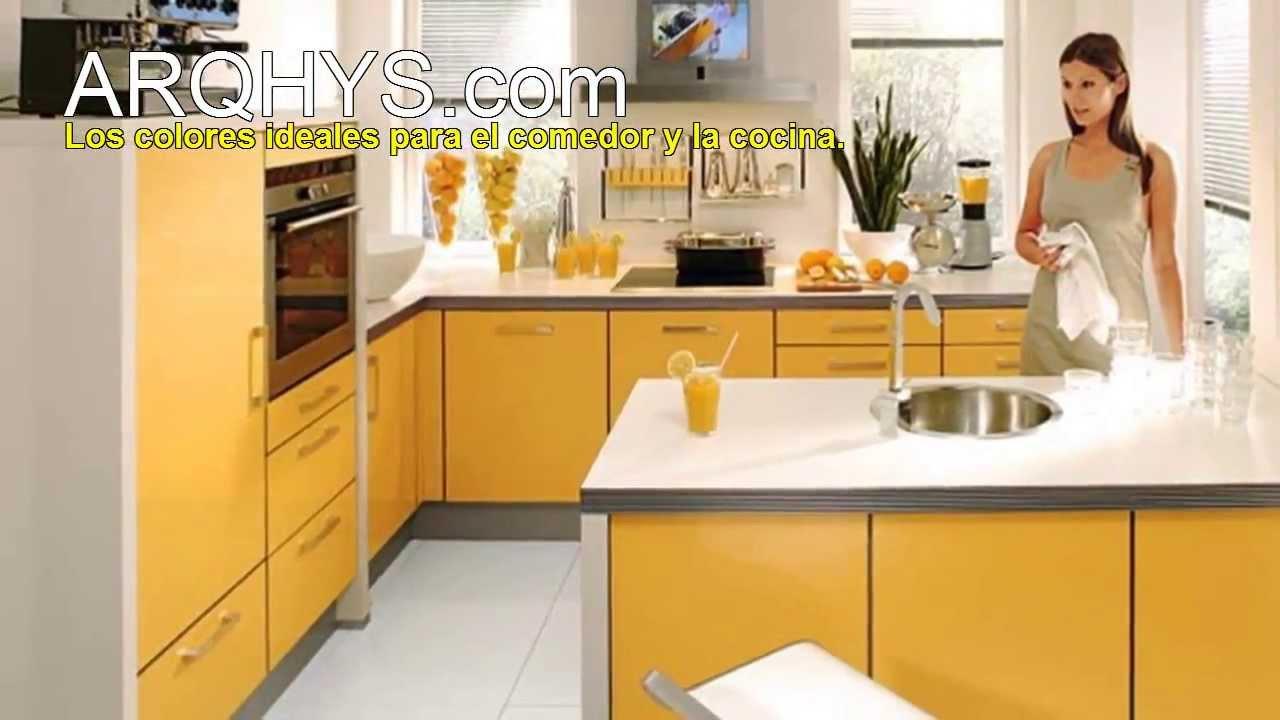 Los colores ideales para la cocina y el comedor youtube for Colores para gabinetes de cocina
