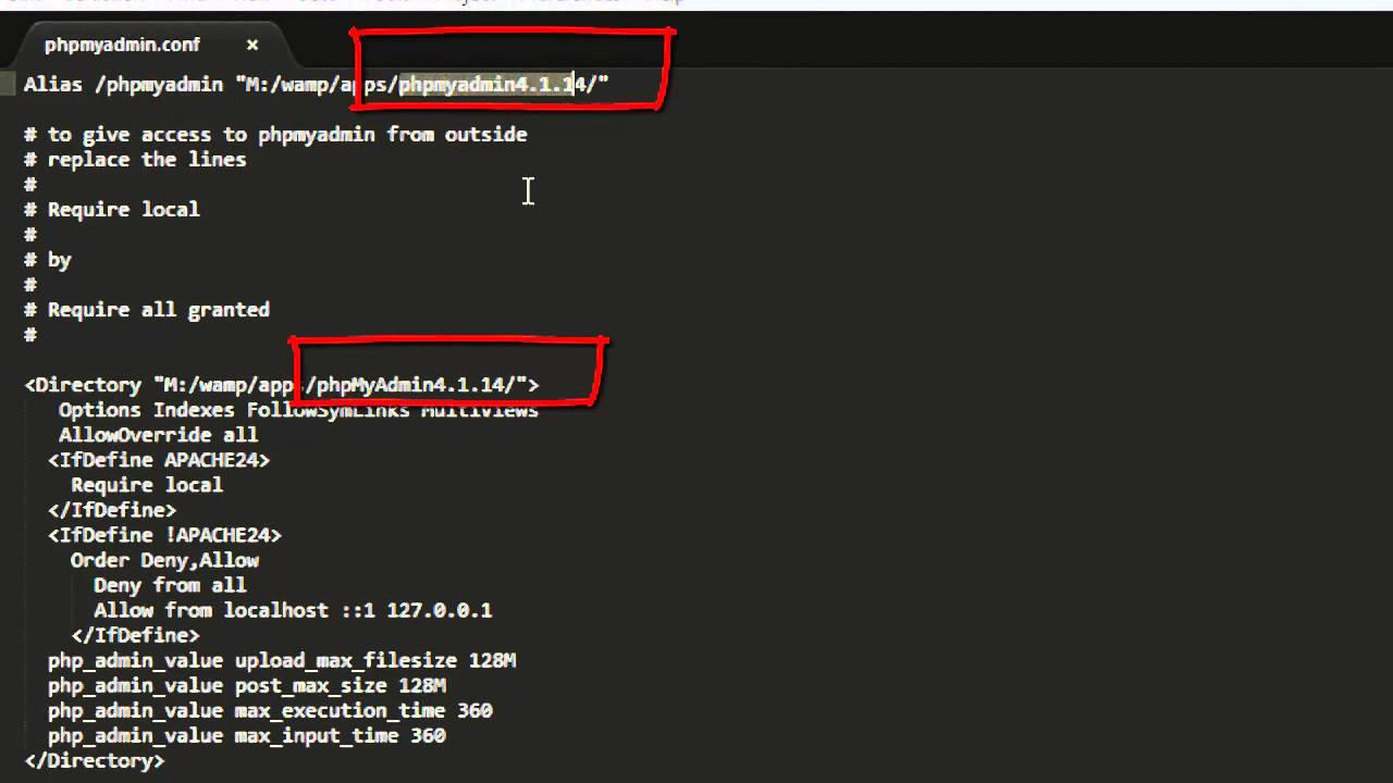 Como actualizar phpmyadmin 2016