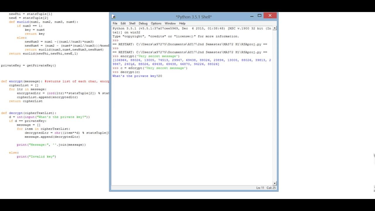 RSA Encryption (Python)